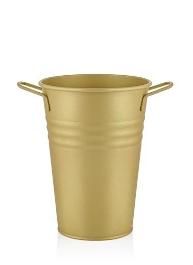 The Mia Vazo 30 Cm - Gold Altın